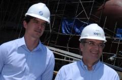 Salgado, do EISA, e Lopes, da Log-In: confiança no cumprimento do novo cronograma de entrega de quatro navios