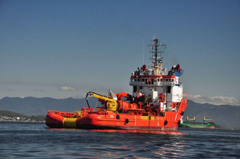 AHTS Fivel, que faria uma docagem no Uruguai, acabou na Polônia (Cortesia)