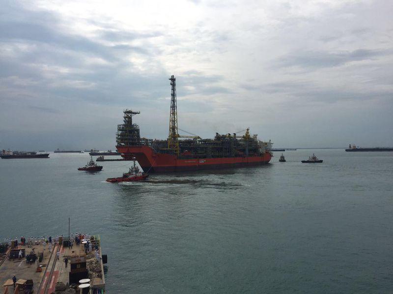 FPSO Pioneiro de Libra deixa Singapura (Foto OOGTKK)