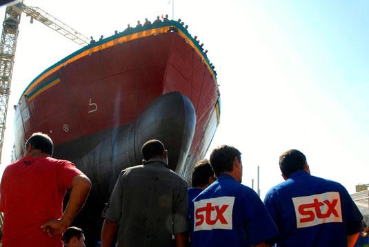 Skandi Amazonas foi batizado e lançado ao mar no Estaleiro STX Brasil para o armador DOF Navegação.