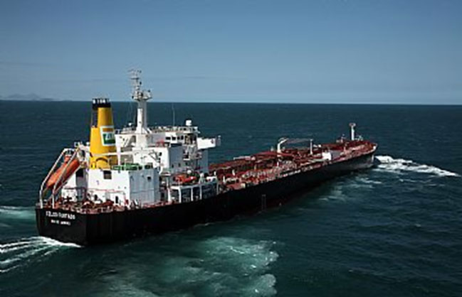 Navio de produtos Celso Furtado, durante prova de mar antes da entrega à Transpetro (Foto: Petrobras)