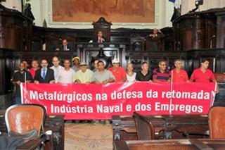 Trabalhadores da Indústria Naval em defesa dos empregos na ALERJ-11
