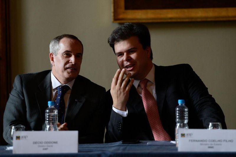 O diretor-geral da ANP, Décio Oddone e o ministro de Minas e Energia, Fernando Coelho Filho (Foto: Tomaz Silva/Agência Brasil)